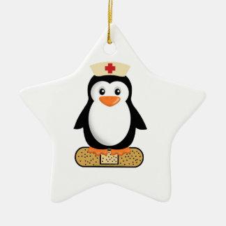 Nurse Penguin (w/bandaid) Christmas Tree Ornaments