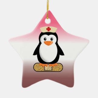 Nurse Penguin (w/bandaid) Ornaments