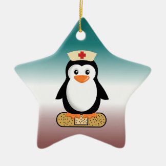 Nurse Penguin (w/bandaid) Ornament
