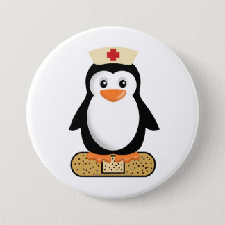 Nurse Penguin (w/bandaid) Pinback Button