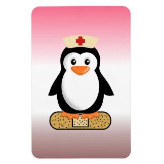 Nurse Penguin (w/bandaid) Rectangle Magnet