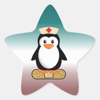 Nurse Penguin (w/bandaid) Star Sticker
