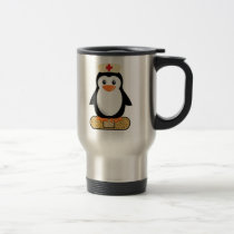 Nurse Penguin (w/bandaid) Travel Mug