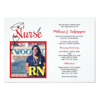 Nurse photo graduation pinning celebration / red card