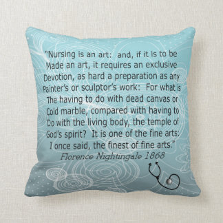 Nurse Pillow Florence Nightingale Quote