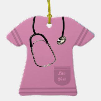 Nurse Pink Scrub Ornament