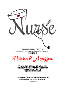 Nursing graduation invitations zazzle nurse pinning ceremony invite fun rn graduation invitation filmwisefo