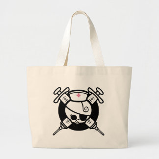 Nurse Pirate and Cross Hypos Tote Bags