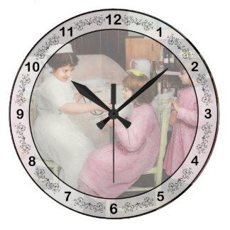 Nurse - Playing nurse 1918 Large Clock