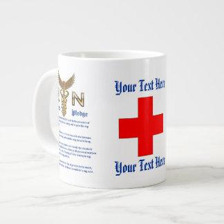 Nurse Pledge Jumbo Mug Please View about design 20 Oz Large Ceramic Coffee Mug