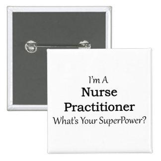 Nurse Practitioner 2 Inch Square Button