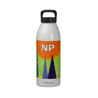 Nurse Practitioner Artsy Forest Design Reusable Water Bottle