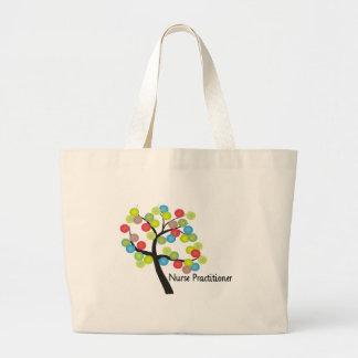 Nurse Practitioner Artsy Tree Design Gifts Canvas Bags