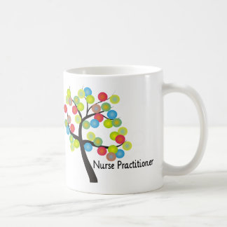 Nurse Practitioner Artsy Tree Design Gifts Coffee Mug