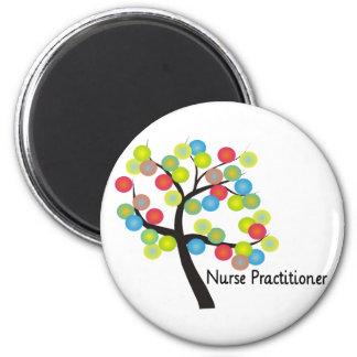 Nurse Practitioner Artsy Tree Design Gifts Refrigerator Magnet