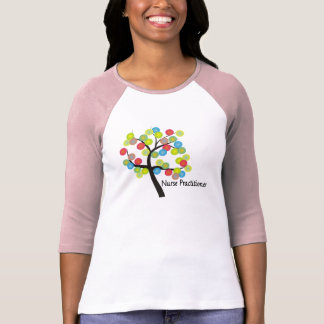 Nurse Practitioner Artsy Tree Design Gifts T-Shirt