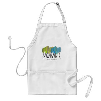 Nurse Practitioner Artsy Trees Design Gifts Adult Apron