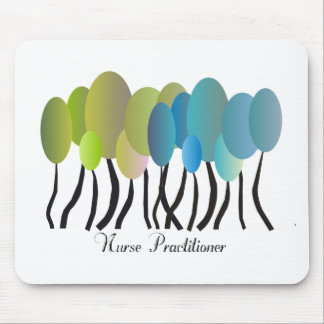 Nurse Practitioner Artsy Trees Design Gifts Mouse Pad