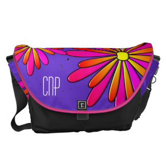 Nurse Practitioner Bag Artsy Flowers Bag Purple