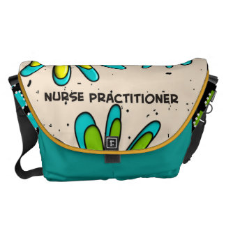 Nurse Practitioner Bag Artsy Flowers II