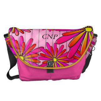 Nurse Practitioner Bag Artsy Flowers Pink