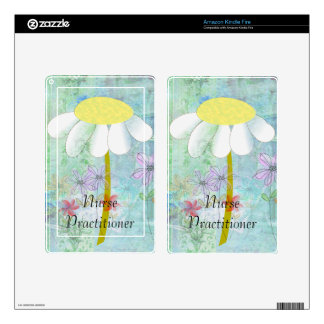 Nurse Practitioner Big Yellow Daisies Decals For Kindle Fire