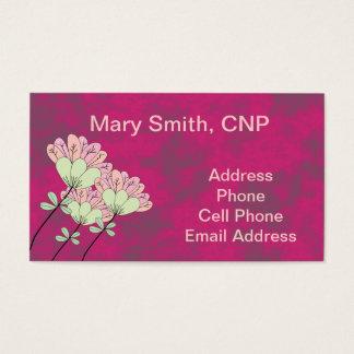Nurse Practitioner Business Cards Fuschia