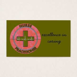 Nurse Practitioner Business Cards Olive Green