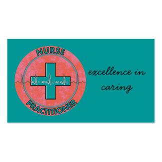 Nurse Practitioner Business Cards Teal