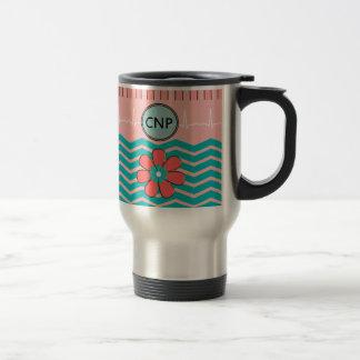 Nurse Practitioner Chevron Design Travel Mug
