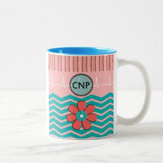 Nurse Practitioner Chevron Design Two-Tone Coffee Mug