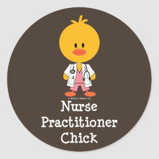 Nurse Practitioner Chick Stickers