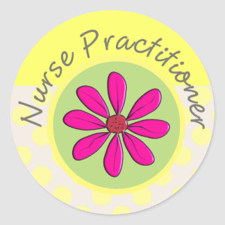 Nurse Practitioner Gifts Classic Round Sticker