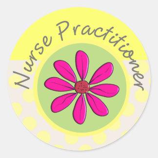 Nurse Practitioner Gifts Classic Round Sticker