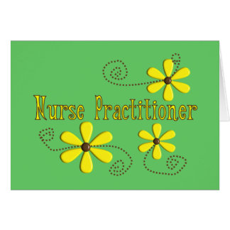 Nurse Practitioner Gifts Daisies Design Greeting Card