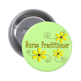 Nurse Practitioner Gifts Daisies Design Pin