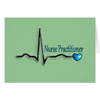Nurse Practitioner Gifts QRS Design Greeting Card