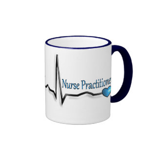Nurse Practitioner Gifts QRS Design Ringer Coffee Mug