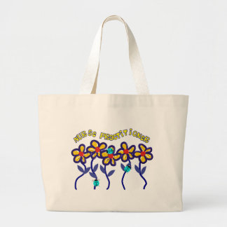 Nurse Practitioner Gifts Whimsical Flowers Design Tote Bags