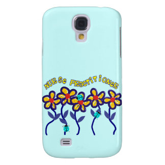 Nurse Practitioner Gifts Whimsical Flowers Design Samsung Galaxy S4 Cover