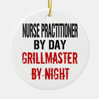Nurse Practitioner Grillmaster Ceramic Ornament