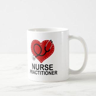 Nurse Practitioner Heart Stethoscope Coffee Mug