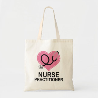 Nurse Practitioner Heart Stethoscope Tote Bag