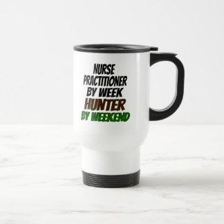 Nurse Practitioner Hunter 15 Oz Stainless Steel Travel Mug