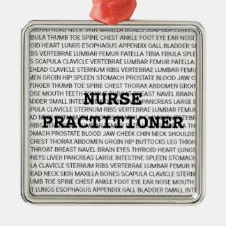 Nurse Practitioner Medical Terminology Christmas Metal Ornament