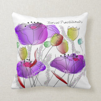 Nurse Practitioner Pillow Wildflowers