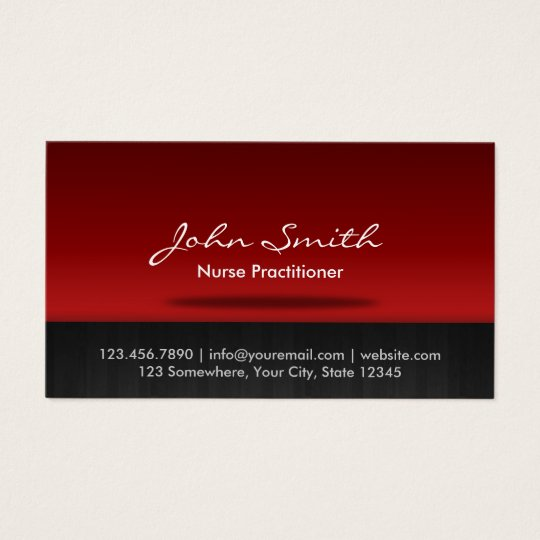 nurse practitioner business cards templates zazzle