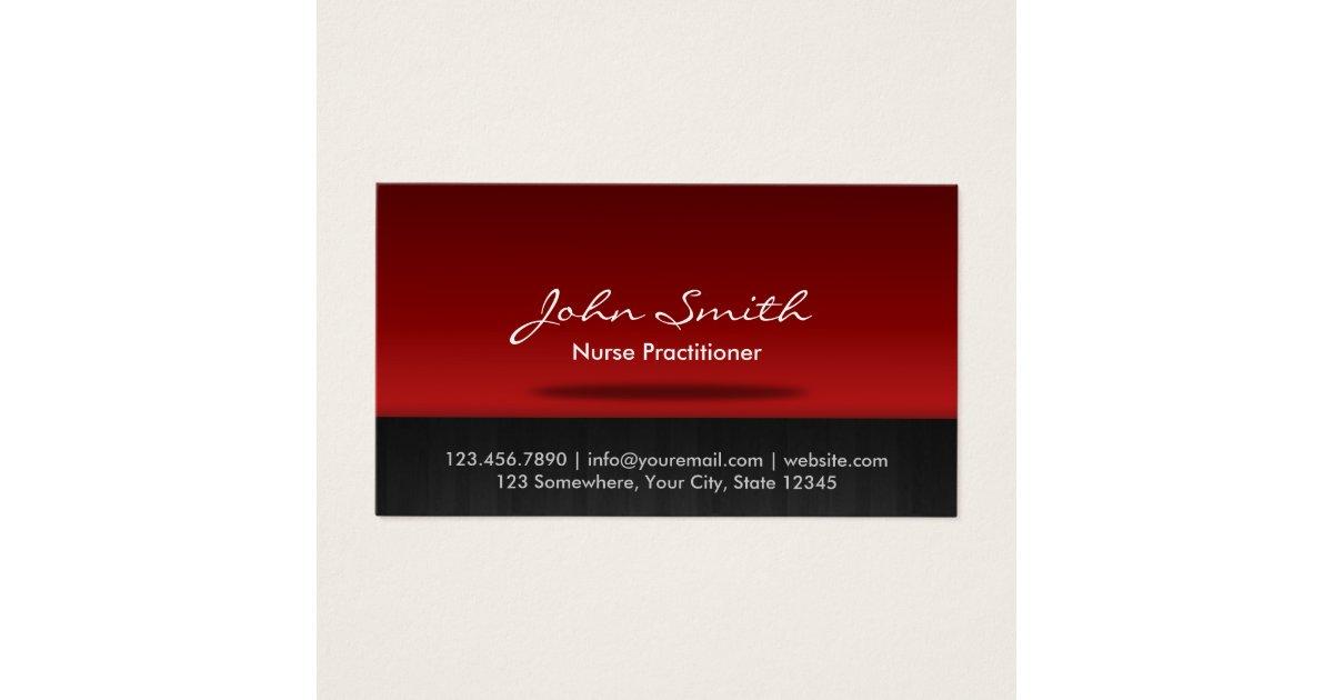 Nurse Practitioner Professional Business Card   Zazzle.com