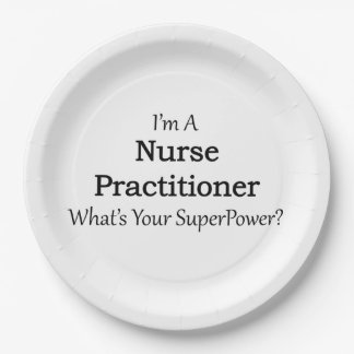 Nurse Practitioner 9 Inch Paper Plate