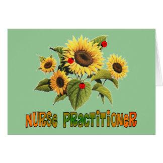Nurse Practitioner Sunflower Design Gifts Greeting Cards
